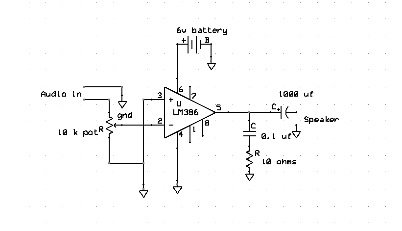 Lm386 Ic Audio Amplifier Circuit Soldering Mind