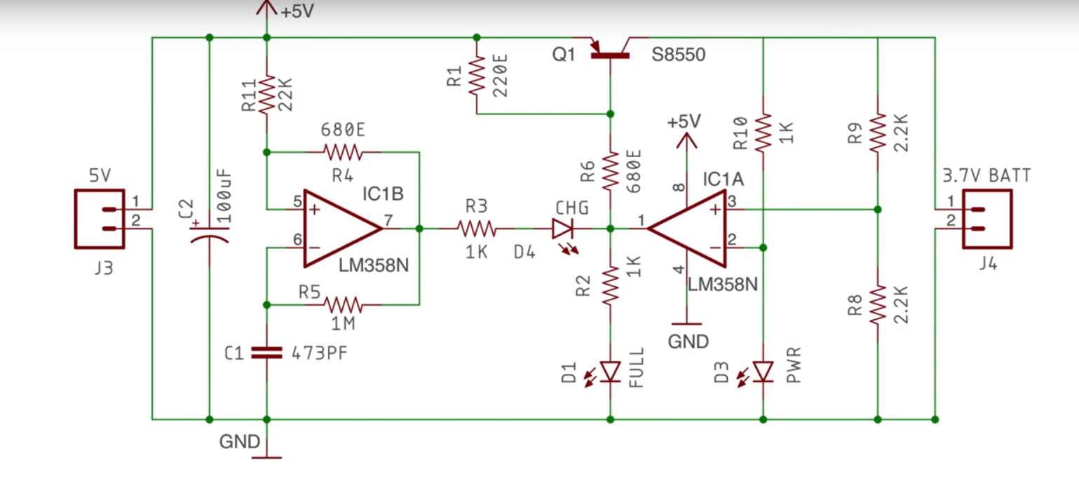 37 v li ion battery charger circuit using lm358 soldering mind