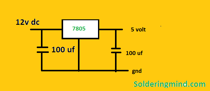7805 Voltage Regulator Circuit Diagram