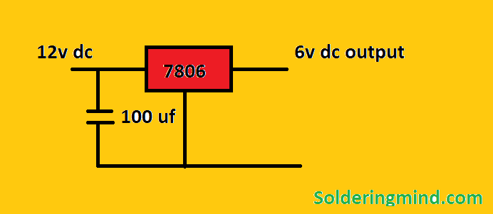 12v to 6v converter circuit diagram - Soldering Mind Circuit Diagram V To V on car circuit diagram, solar circuit diagram, 220v circuit diagram, dc circuit diagram, led circuit diagram, power circuit diagram, ground circuit diagram, usb circuit diagram, inverter circuit diagram, fan circuit diagram, diesel circuit diagram, 120v circuit diagram, 277v circuit diagram, green circuit diagram, 240v circuit diagram, ac circuit diagram, halogen circuit diagram, charger circuit diagram, voltage circuit diagram,
