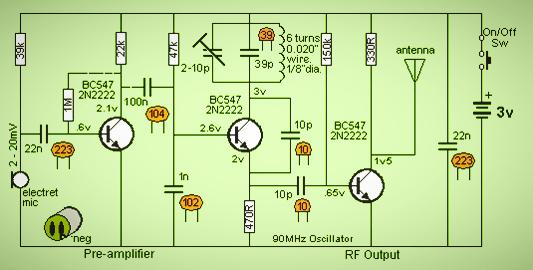 Transistor Transmitter Electronic Circuit Diagram - Wiring Diagram