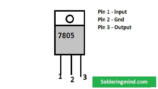 7805 voltage regulator circuit diagram - Soldering Mind