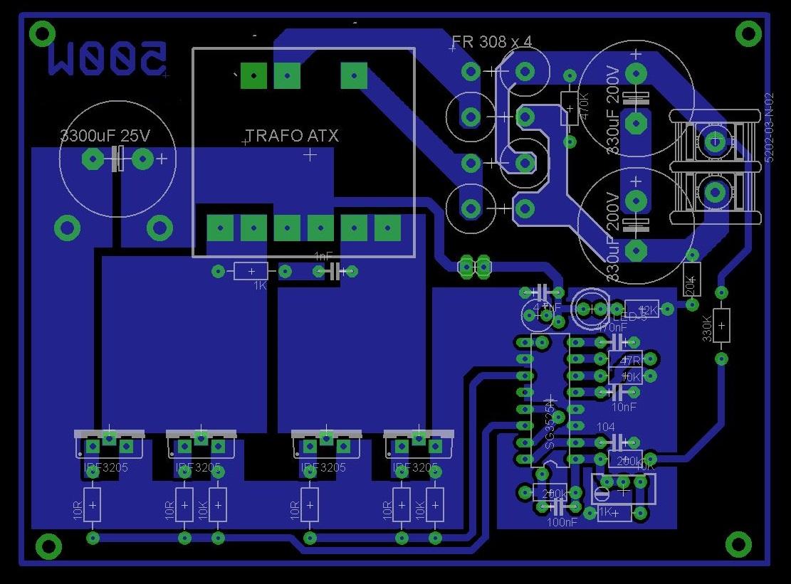 500 watts inverter circuit -12 volt to 220 volt ...