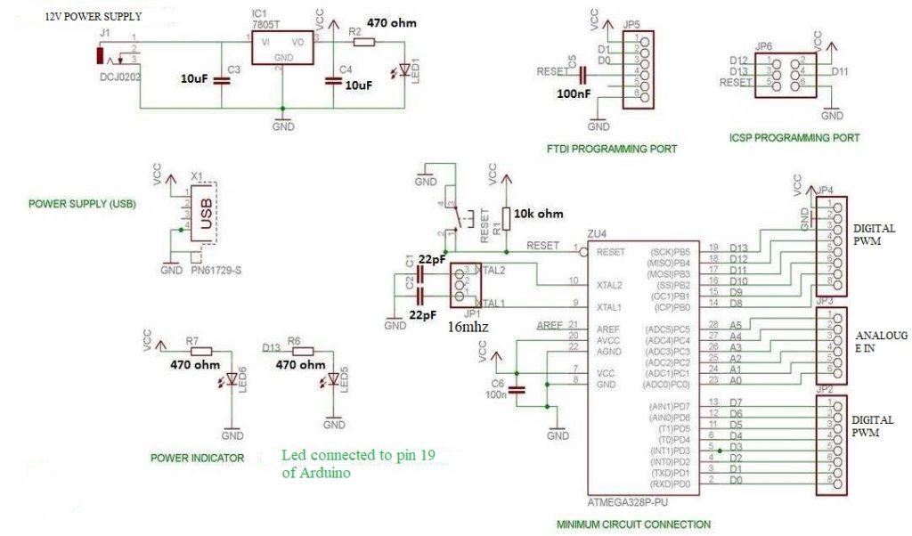 diy arduino - make your own arduino board