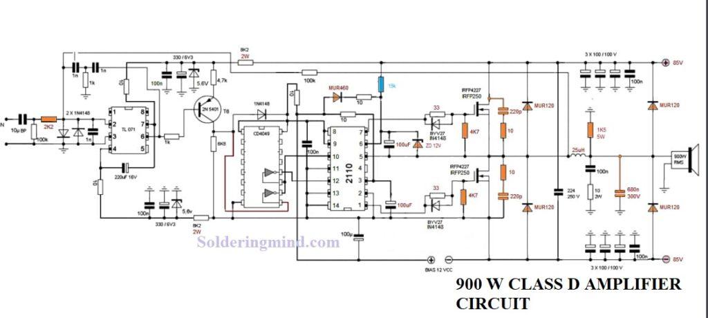 TL494 Class D Amplifier Circuit | 500w Amplifier