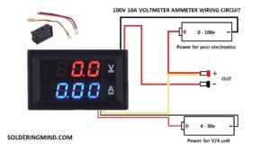 Dc Voltage Current Meter 100v 10a Wiring Soldering Mind